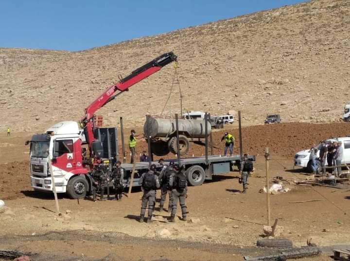 """(محدث) الاحتلال يهدم 11مسكنا في تجمع """"القبون"""" البدوي شمال رام الله"""